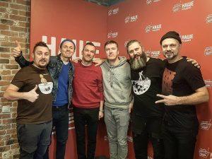 Группа BrainStorm в гостях у «Подъёмников» на НАШЕм Радио